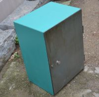 Colored metal cabinet